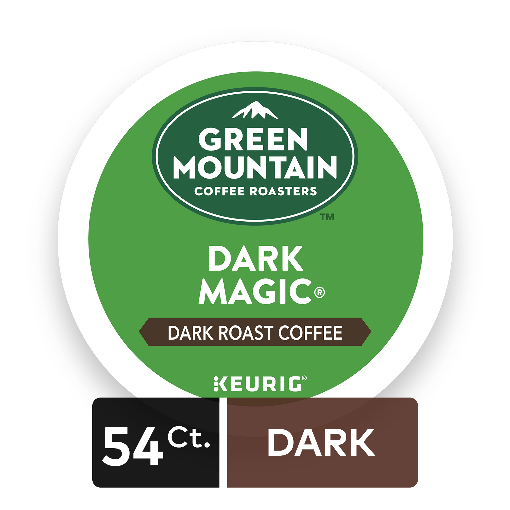 Green Mountain Coffee Roasters Dark Magic Keurig Single-Serve K-Cup Pods, Dark Roast Coffee 54 Count