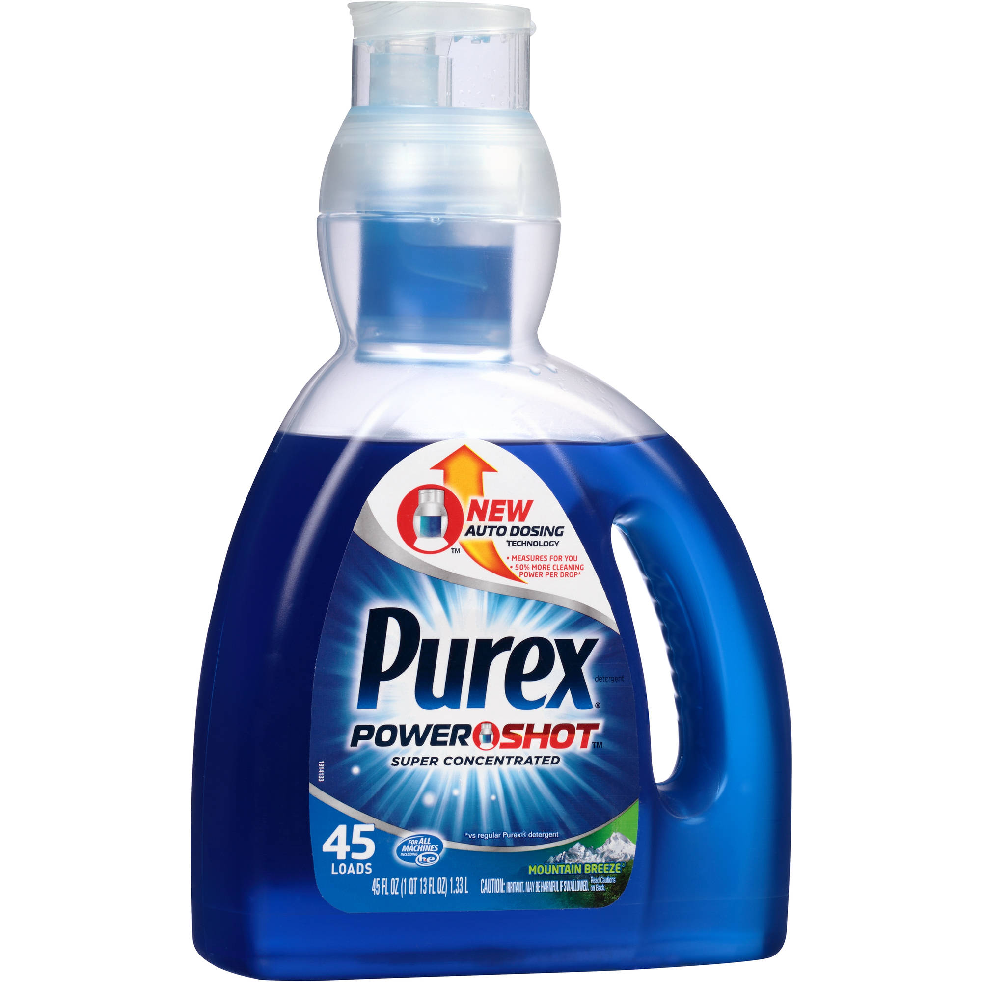 Purex PowerShot Mountain Breeze Liquid Laundry Detergent, 45 loads, 45 fl oz