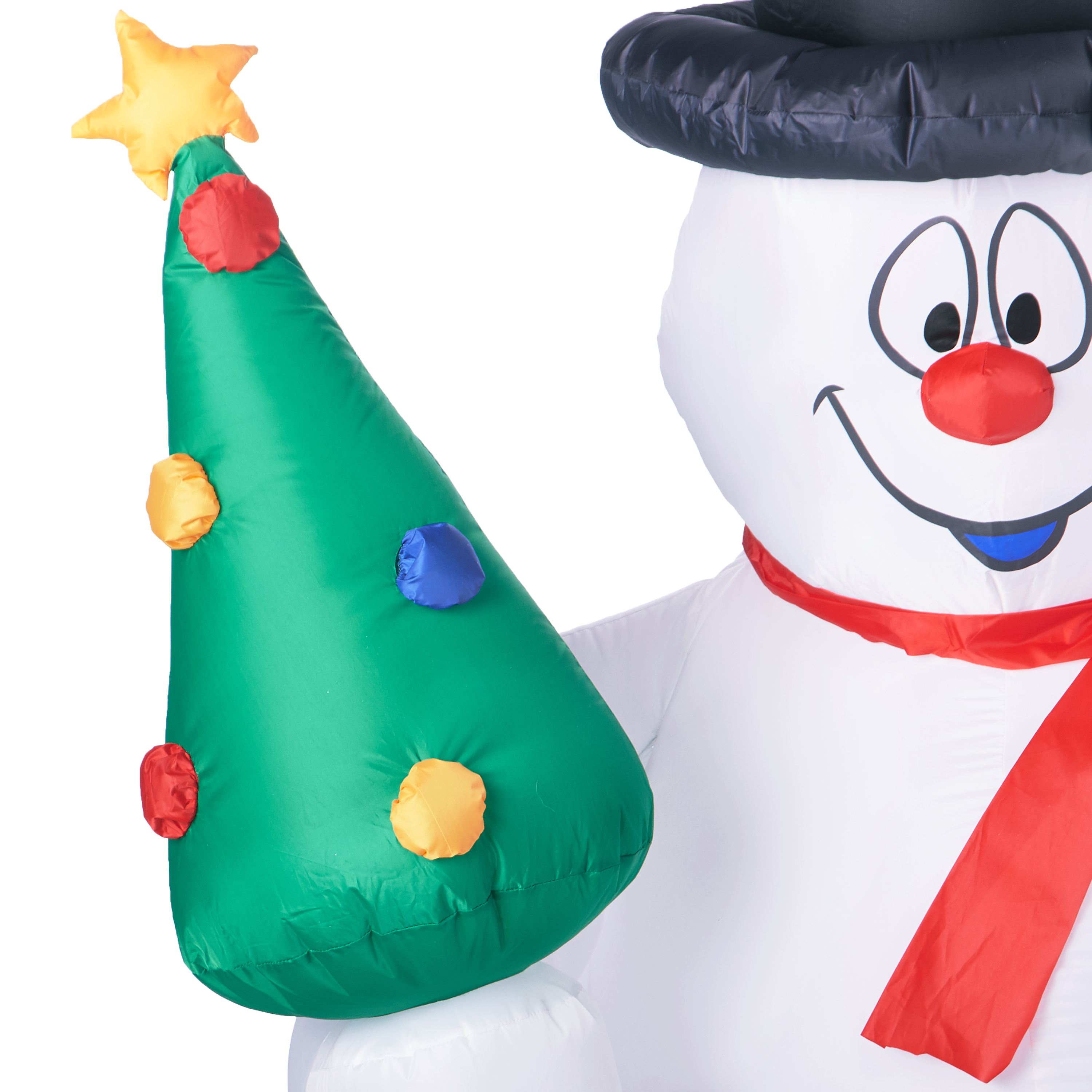 Gemmy Industries Airblown Inflatable Frosty with Christmas Tree, 5 ...