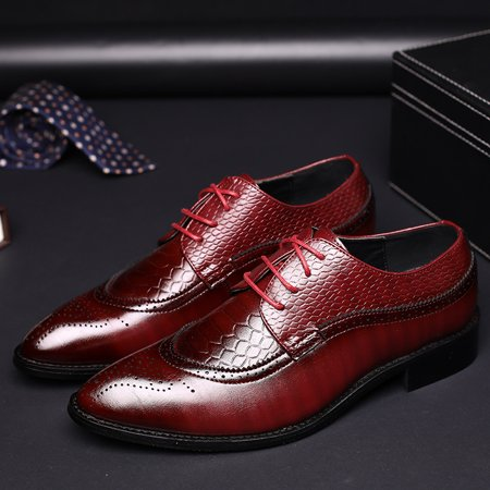 Meigar Mens Dress Shoes Formal Oxfords Leather shoes Business Casual