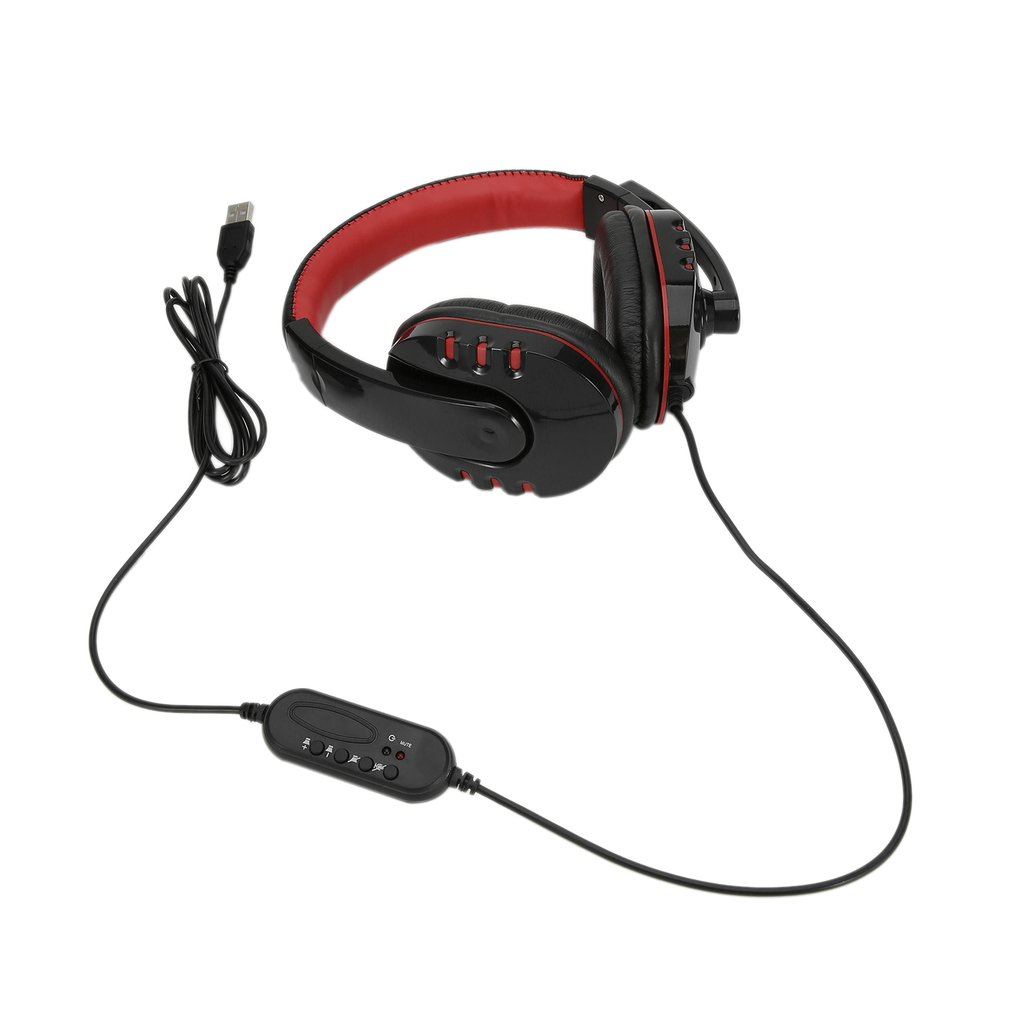 Fashionable SY733MV 4 Buttons Rotating Microphone Wire Gaming Headphone Earphones USB Ports Headsets Accessory