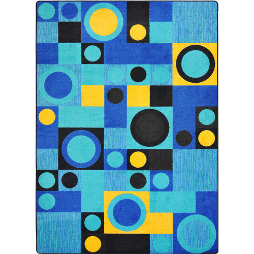 Wildon Home  Cachet Black/Blue Area Rug