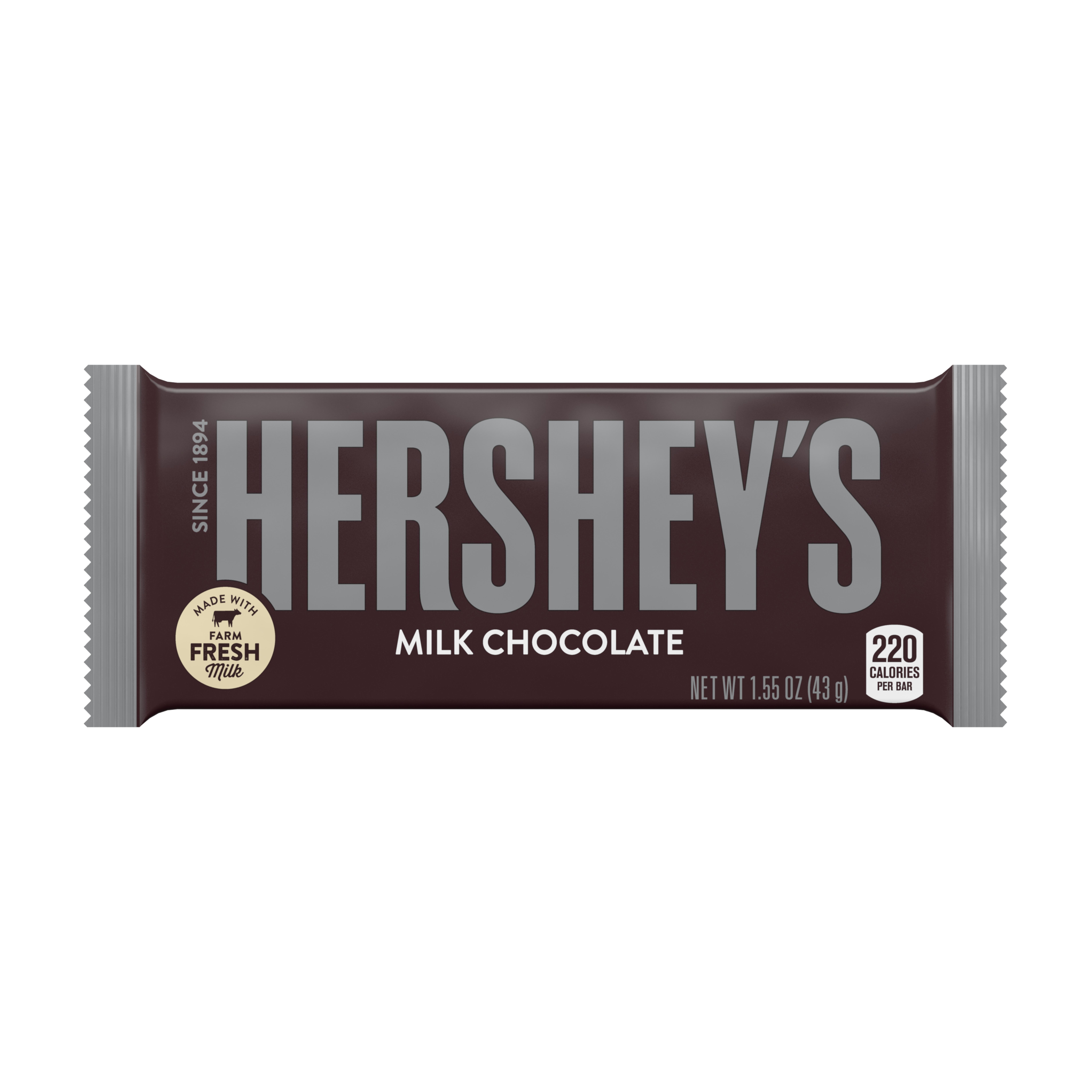 Hersheys Milk Chocolate Bar 155 Oz Walmartcom