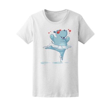 Cute Hippo In Love, Ballet Dance Tee Women's -Image by Shutterstock - Fantasia Hippo Ballet
