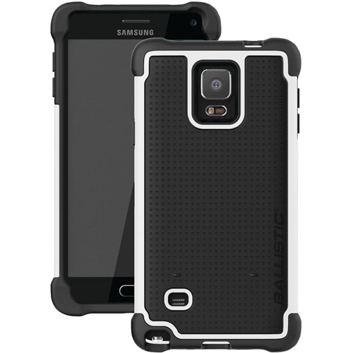 Ballistic TJ1491-A08C Tough Jacket Case for Samsung Galaxy Note 4 - Black/White