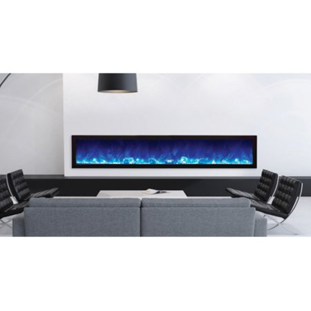 Amantii Panorama Slim Electric Wall Mount Fireplace with Black Surround