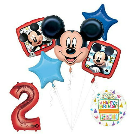 NEW Mickey Mouse 2nd Birthday Party Supplies Balloon Bouquet Decorations for $<!---->