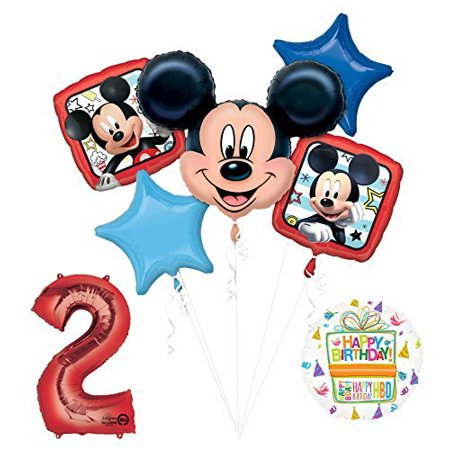 NEW Mickey Mouse 2nd Birthday Party Supplies Balloon Bouquet Decorations - Mickey Mouse Decoration Birthday Party