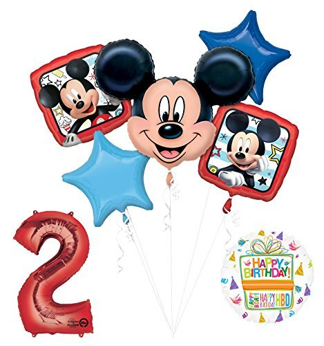 NEW Mickey Mouse 2nd Birthday Party Supplies Balloon Bouquet Decorations