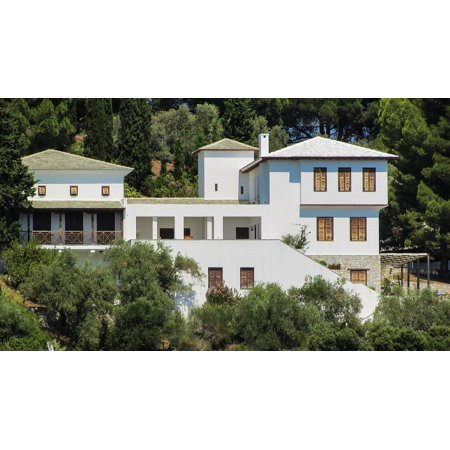 Traditional Houses Greece (LAMINATED POSTER House Traditional White Greece Architecture Poster Print 24 x 36 )