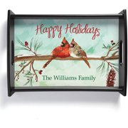 Happy Holidays Personalized Serving Tray