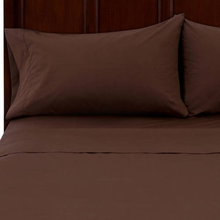 Mainstays 250 Thread Count Sheet Set Collection, Twin, Brown