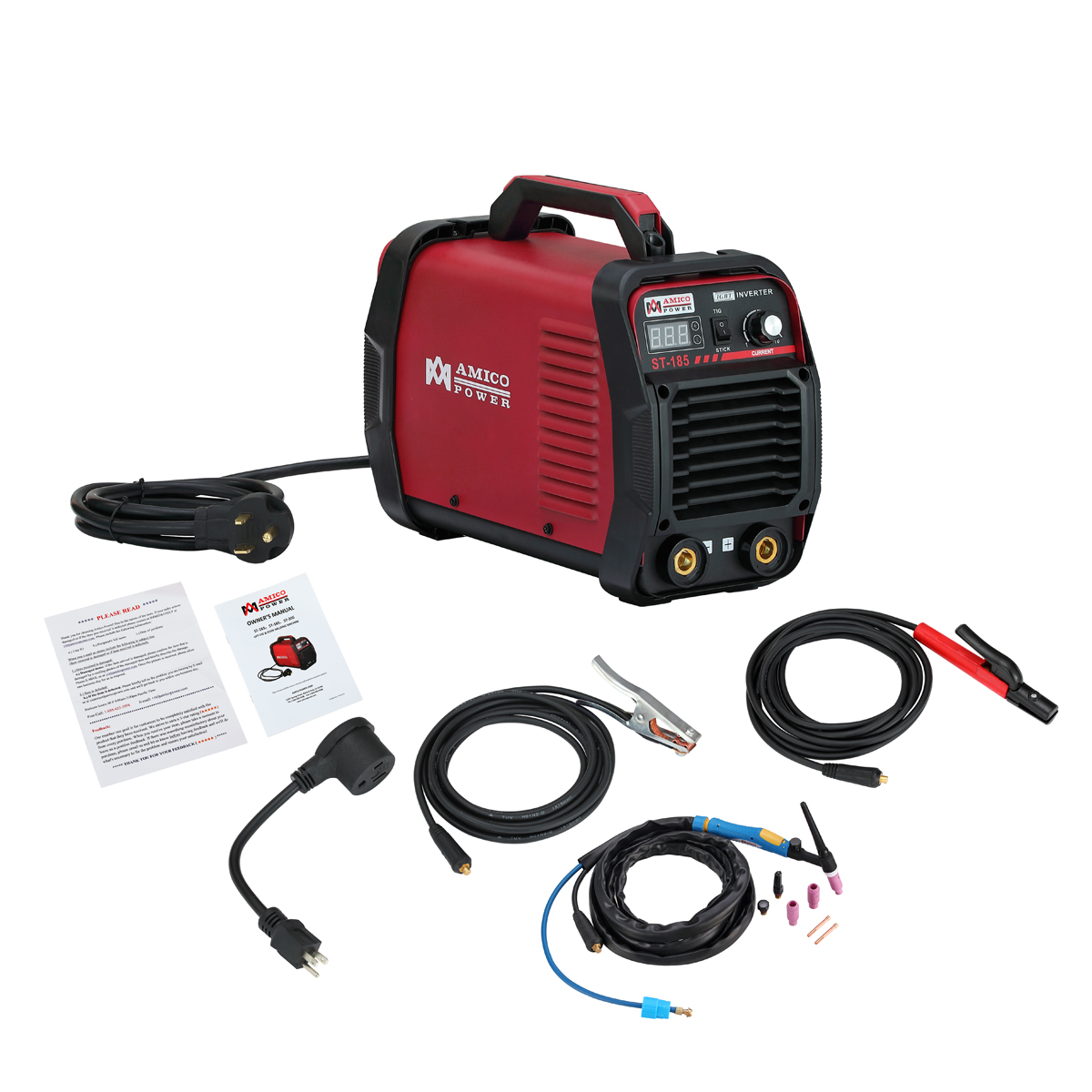Amico ST-185 185 Amp Lift-TIG Stick Arc Welder IGBT Inverter Dual Voltage Input Welding