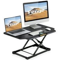 FENGE Standing Desk Converter Sit to Stand Up Desk Adjustable Desk Desktop Workstation SD208003MB-T