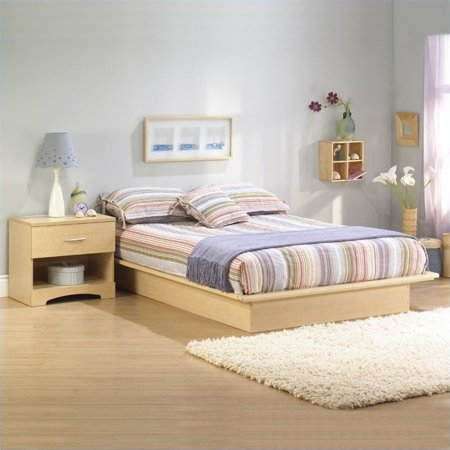 South shore copley light maple wood platform bed 4 piece - South shore 4 piece bedroom furniture set ...