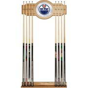 NHL Cue Rack with Mirror, Edmonton Oilers