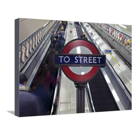 England, London, City of London. Interior of St. Paul's Underground Station Stretched Canvas Print Wall Art By Pamela (Best Underground Radio Stations)