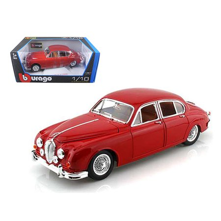 Jaguar S-type Cars - 1959 Jaguar Mark II Red 1/18 Diecast Car Model by Bburago