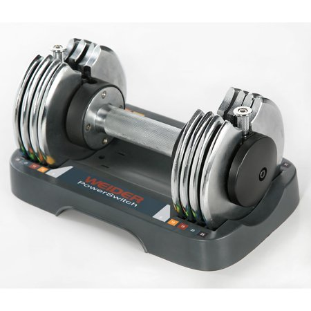 Weider Speed Weight Adjustable Multipurpose Weightlifting Dumbbell 5-25 Pounds - image 2 de 2