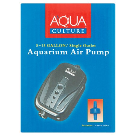2 Pack Aquarium Air Pump - Aqua Culture 5-15 Gallon Single Outlet Aquarium Air Pump