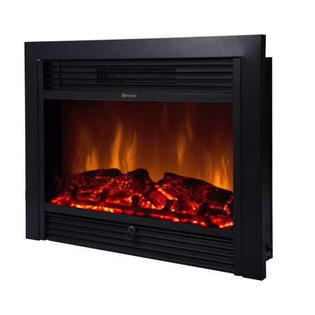 "Beamnova 28.5"" inch Electric Wall Mount Fireplace Heater with Remote Control Embedded Fireplace"