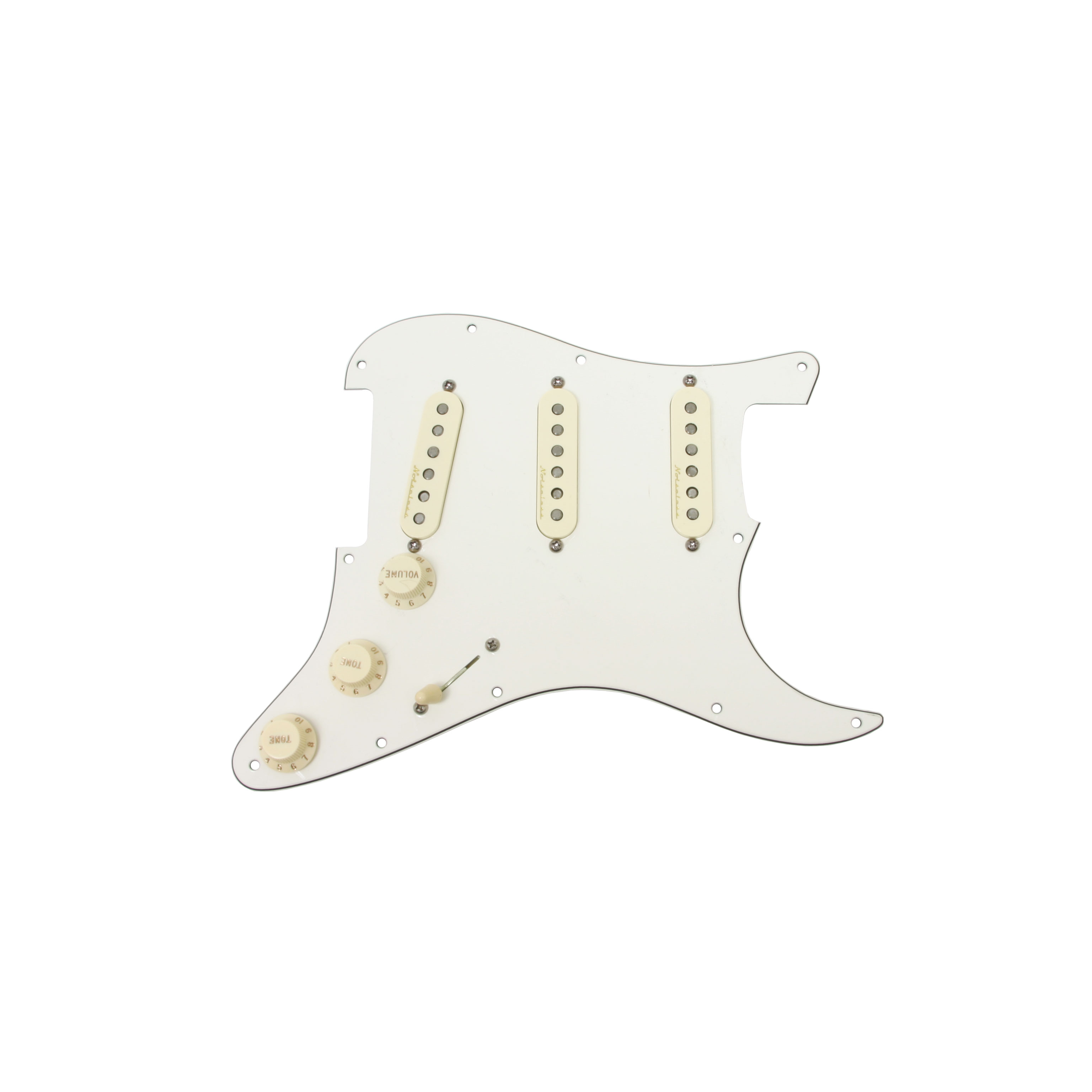 Fender Strat Stratocaster Vintage Noiseless Prewired Loaded Pickguard PA/AW