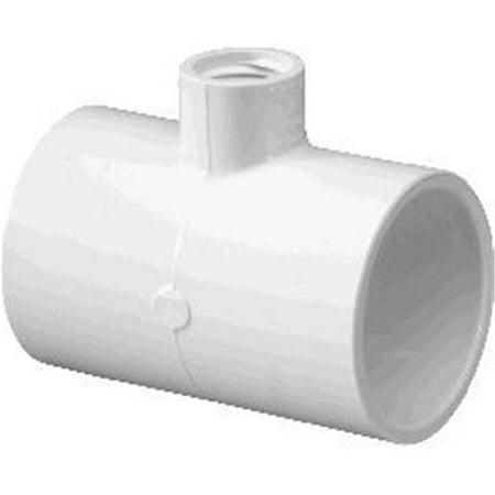 Lasco Fittings PV402247 2 x 0.5 in. PVC Tee Socket Reducer Female Pipe