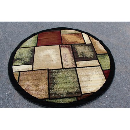 Persian rugs 1794 multi moroccan trellis round for Round contemporary area rugs