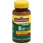 NATURE MADE Vitamin B12, 1000 mcg, Micro-Lozenges, Cherry, Value Size, 50.0 CT