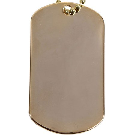 Gold - Military GI Style Dog Tag for $<!---->