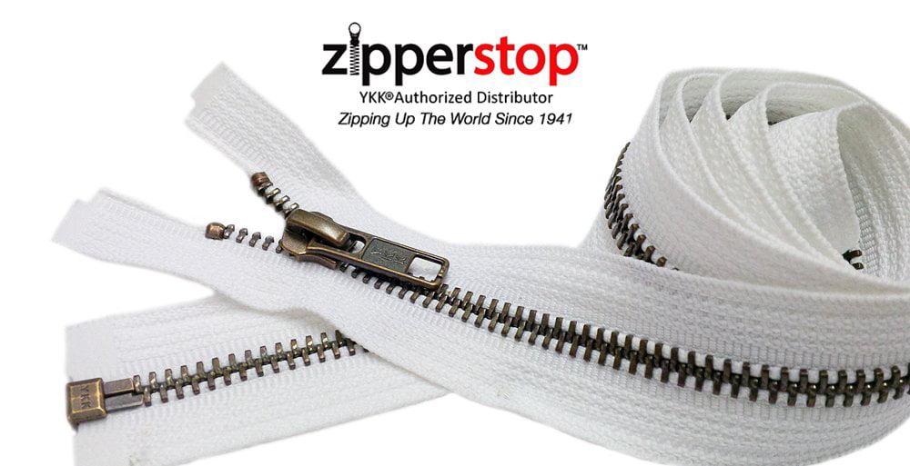 36 inch Black /& Antique Brass Metal #5 YKK Zipper Separating New!