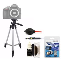Tall Tripod with Top Cleaning Accessory Kit for Nikon D5600 and D5500 and All Digital Cameras