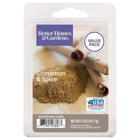 Better Homes & Gardens 5 oz Cinnamon and Spice Scented Wax Melts, Value Size