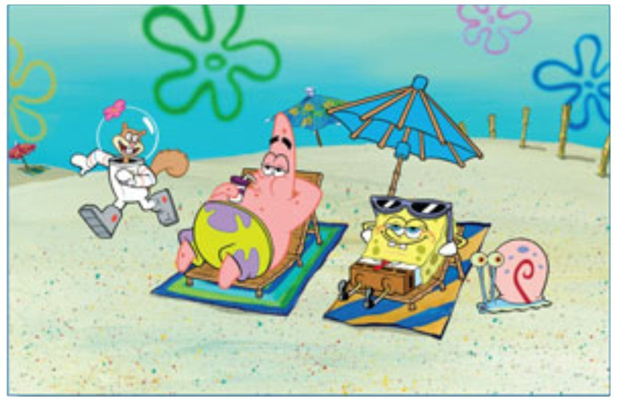Penn-Plax SpongeBob Squarepants Beach Aquarium Background, Waterproof Plastic By Penn Plax by