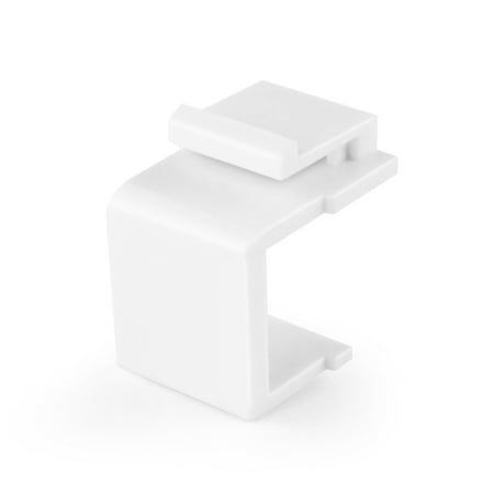 - Blank Keystone Jack Coupler Insert Snap In Female Module Connector Socket Adapter Port For Wall Plate Outlet Panel (White)