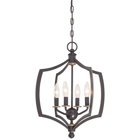 Minka Lavery Middletown Mini Chandelier - Downton Bronze with Gold Highlights