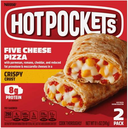 Hot Pockets Five Cheese Pizza Crispy Crust Frozen Snacks 8.5 oz.