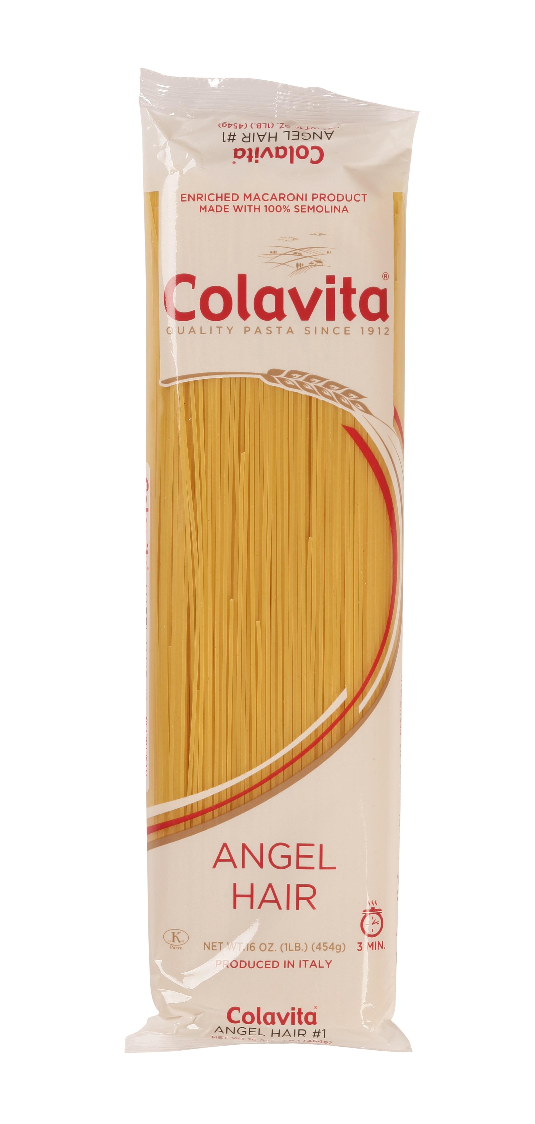 5 Pack Colavita Capellini Angel Hair Pasta 1 Lb Walmart Com