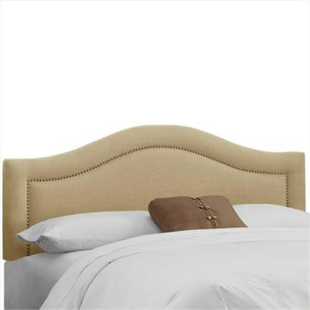 Skyline Furniture 901NB-BRLNNSND Full Inset Nail Button Headboard In Linen Sandstone - image 1 of 1