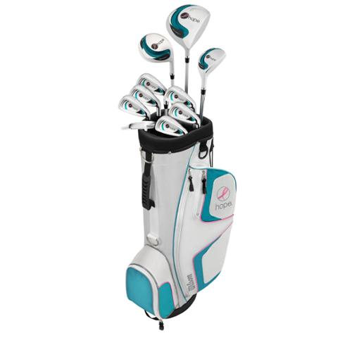 WILSON HOPE Womens Ladies Right Handed Complete Golf Club Set w/ Cart Bag