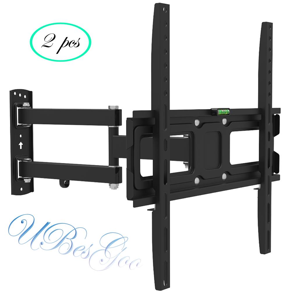 """UBesGoo 2x Full Motion TV Wall Mount Bracket Tilt Swivel for LED LCD 32 37 40 42 46 47 50"""""""