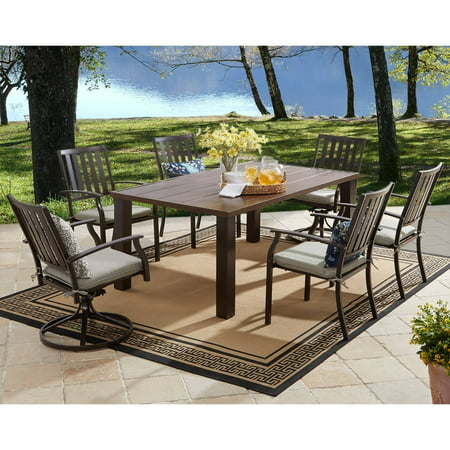 better homes and gardens camrose farmhouse mix match dining table best shop all metal patio. Black Bedroom Furniture Sets. Home Design Ideas