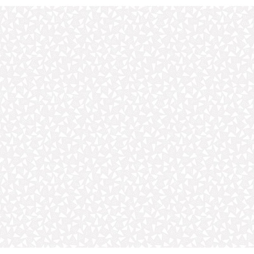 Quiltable Triangles Print Fabric, White