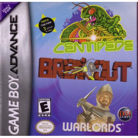 Image of Breakout/Centipede/Warlords for Gameboy Advanced