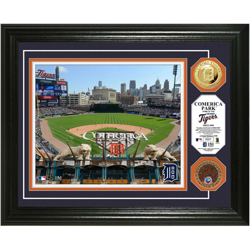 MLB Highland Mint, Comerica Park Game Used Dirt Coin Photo Mint