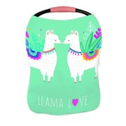 ABPHQTO Llama Love Cute N Elements Nursing Cover Baby Breastfeeding Infant Feeding Cover Baby Car Seat Cover Infant Stroller Cover Carseat Canopy Breathable
