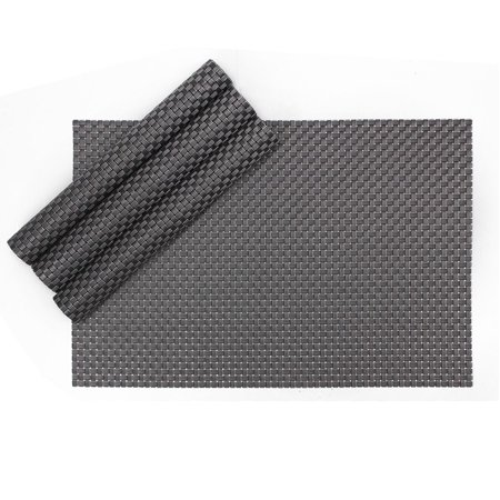 Karateemy Table Mats Stain resistant Woven Vinyl Washable