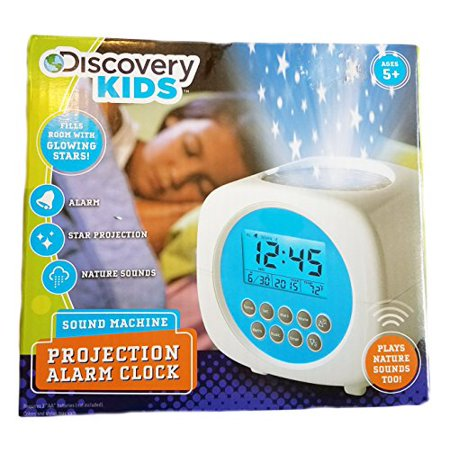 Discovery Kids Light Projection Alarm Clock With Sound