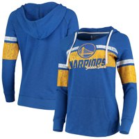 Golden State Warriors Women's Cross Body Stripe Hoodie - Royal