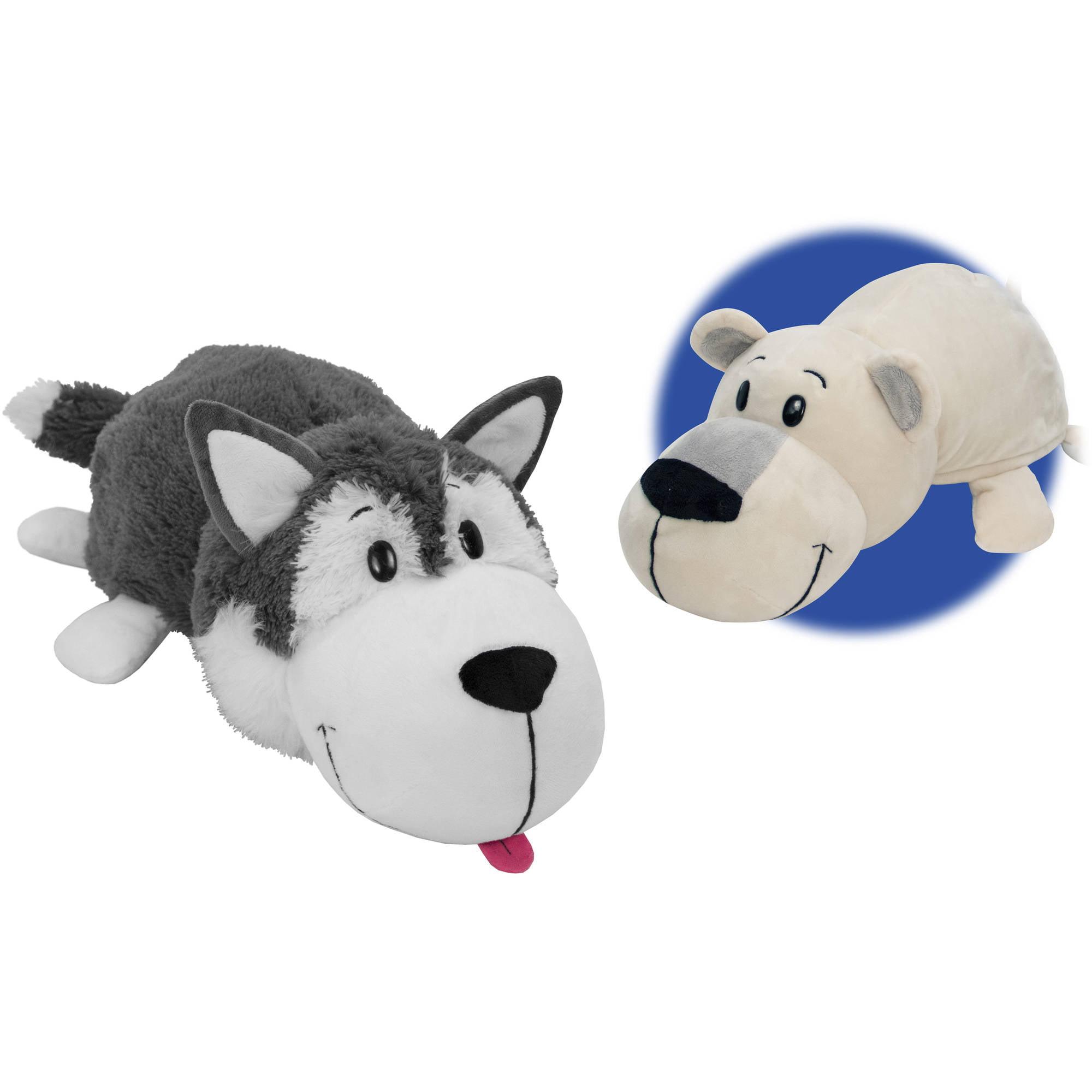 "16"" Husky Dog to Polar Bear FlipAZoo"